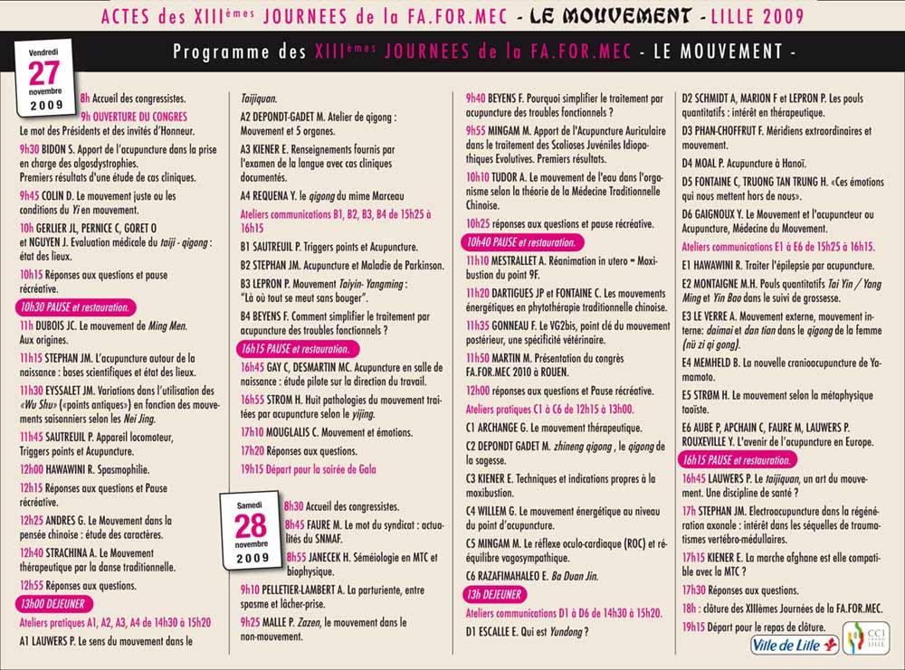 le programme Lille 2009
